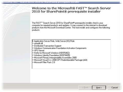 Microsoft Windows FAST Search Server 2010 For SharePoint